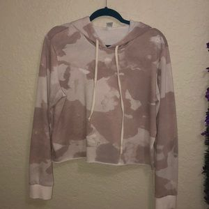 pink camo cropped sweater